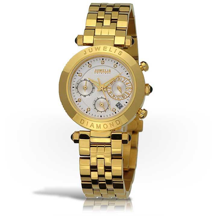 Juwelis Selina Diamond Damenuhr JW602GWBRC Chronograph Diamanten