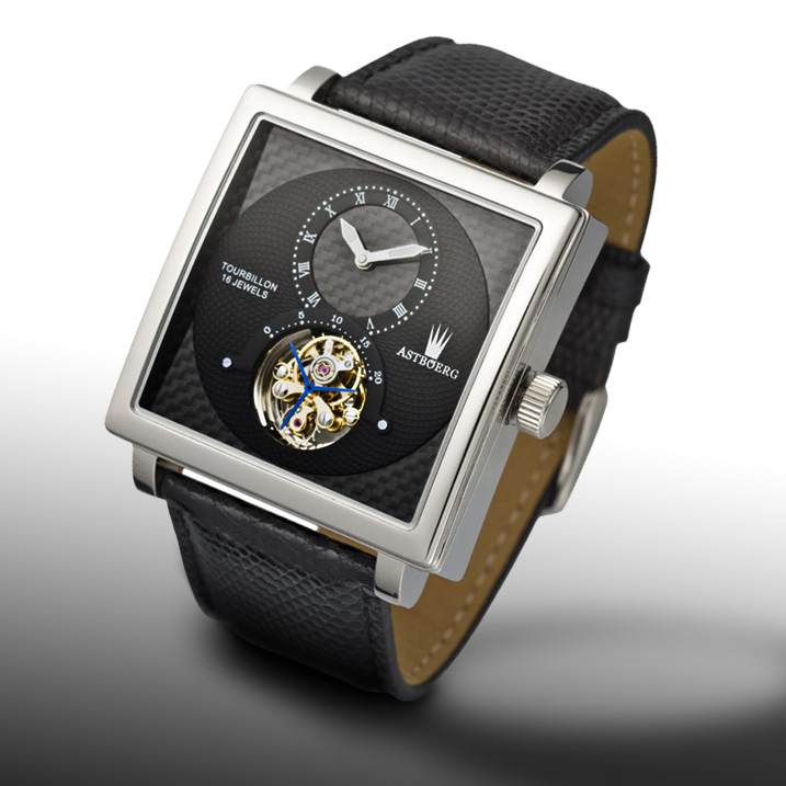 Astboerg Quadrus Herrenuhr AT801SS Tourbillon