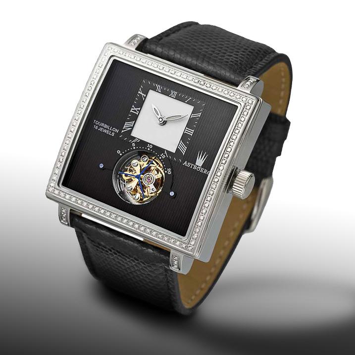 Astboerg Quadrus Diamant Herrenuhr AT811D Tourbillon