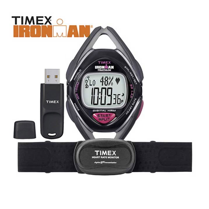 Timex Ironman Triathlon Race Trainer Kit Pulsmesser Damenuhr T5K572