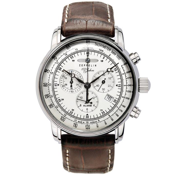 Zeppelin 100 Jahre Zeppelin Alarm-Chronograph 7680-1 Herrenuhr