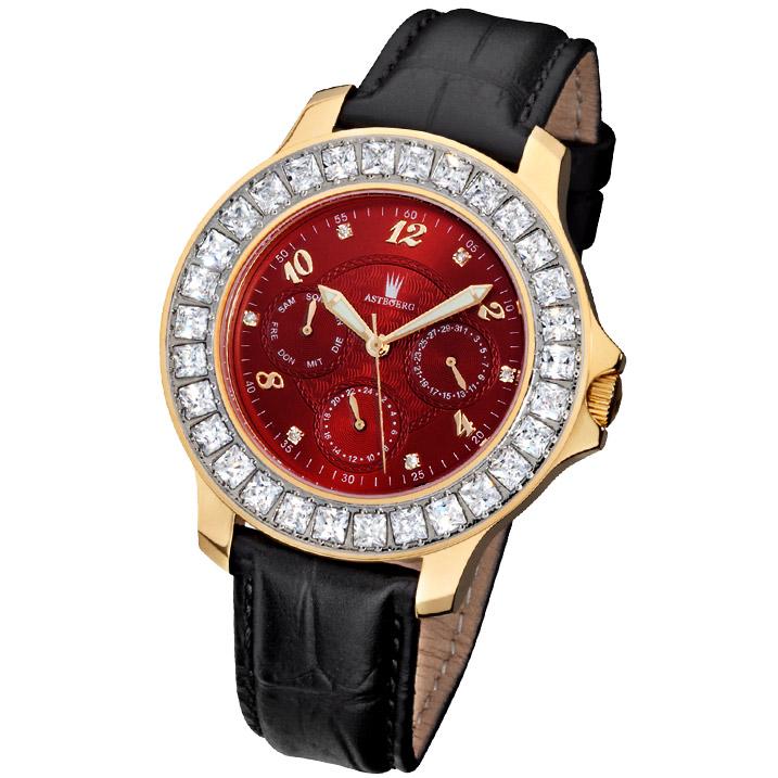 Astboerg Royal Diamond Rot AT406R Damenuhr mit Diamanten