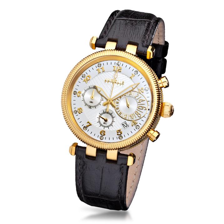 Juwelis Zeus Diamond Herrenuhr JW7217GW Chronograph Diamanten