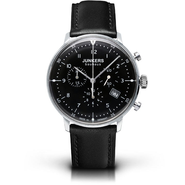 Junkers Chronograph Serie Bauhaus 6086-2 Herrenuhr