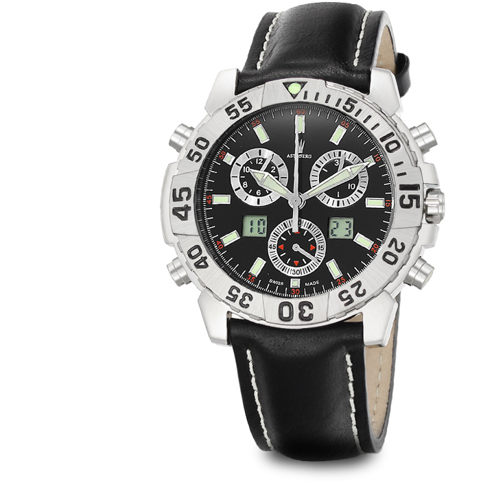 Astboerg Silverstone Herrenuhr AT720S Alarm-Chronograph
