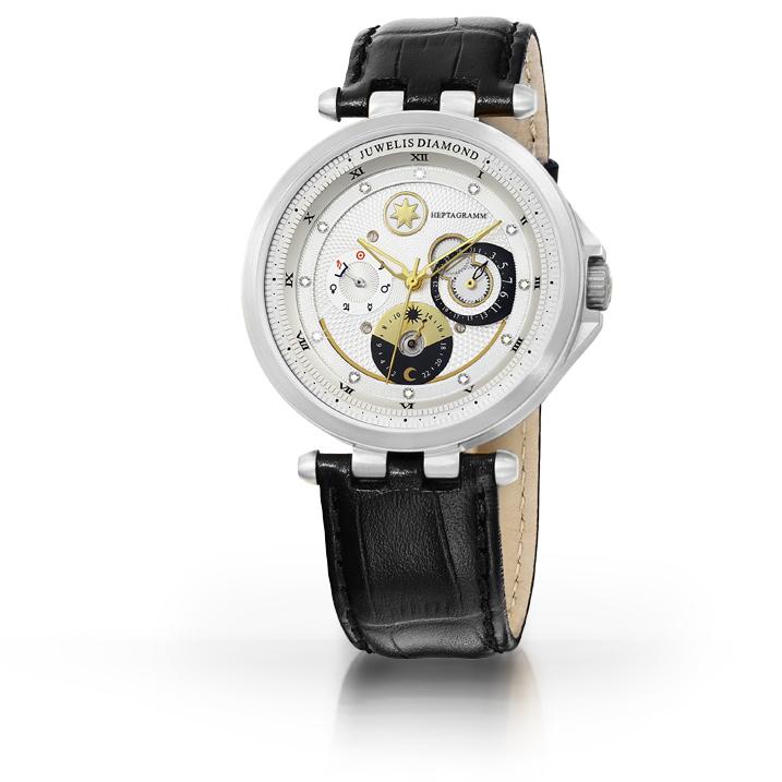 Juwelis Heptagramm JW7015SW Armbanduhr für Sie und Ihn