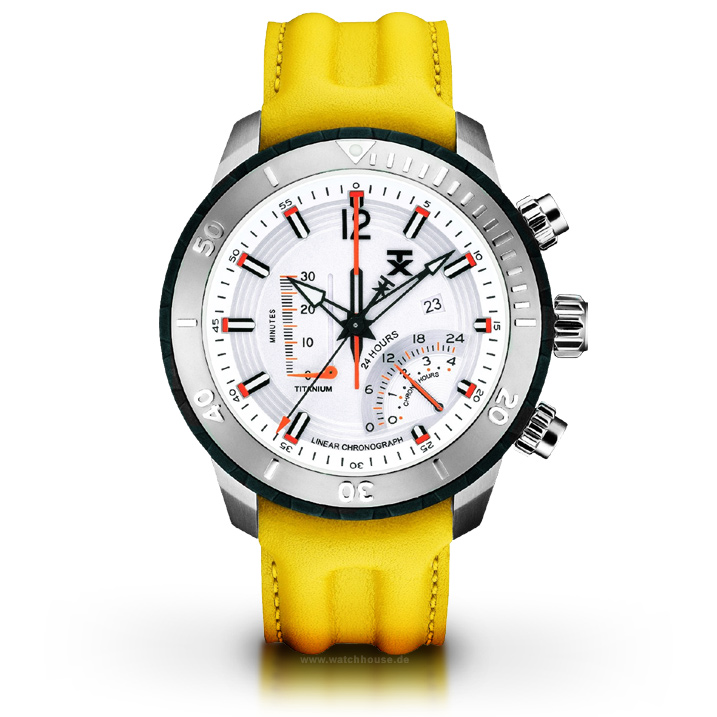 Timex TX Herrenuhr T3C320 Titanuhr Linear-Chronograph