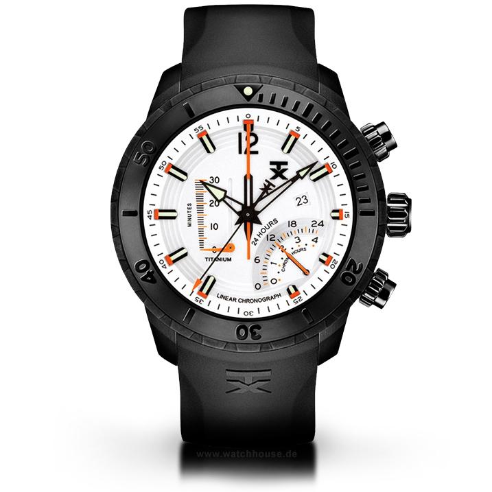 Timex TX Herrenuhr T3C313 Titanuhr Linear-Chronograph