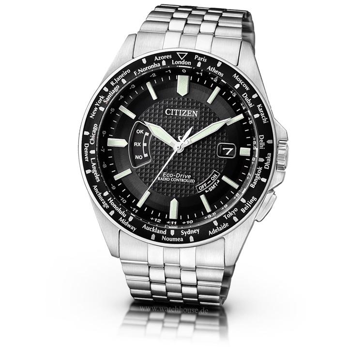Citizen Promaster Land Herren Armbanduhr CB0021-57E Funkuhr Weltzeituhr
