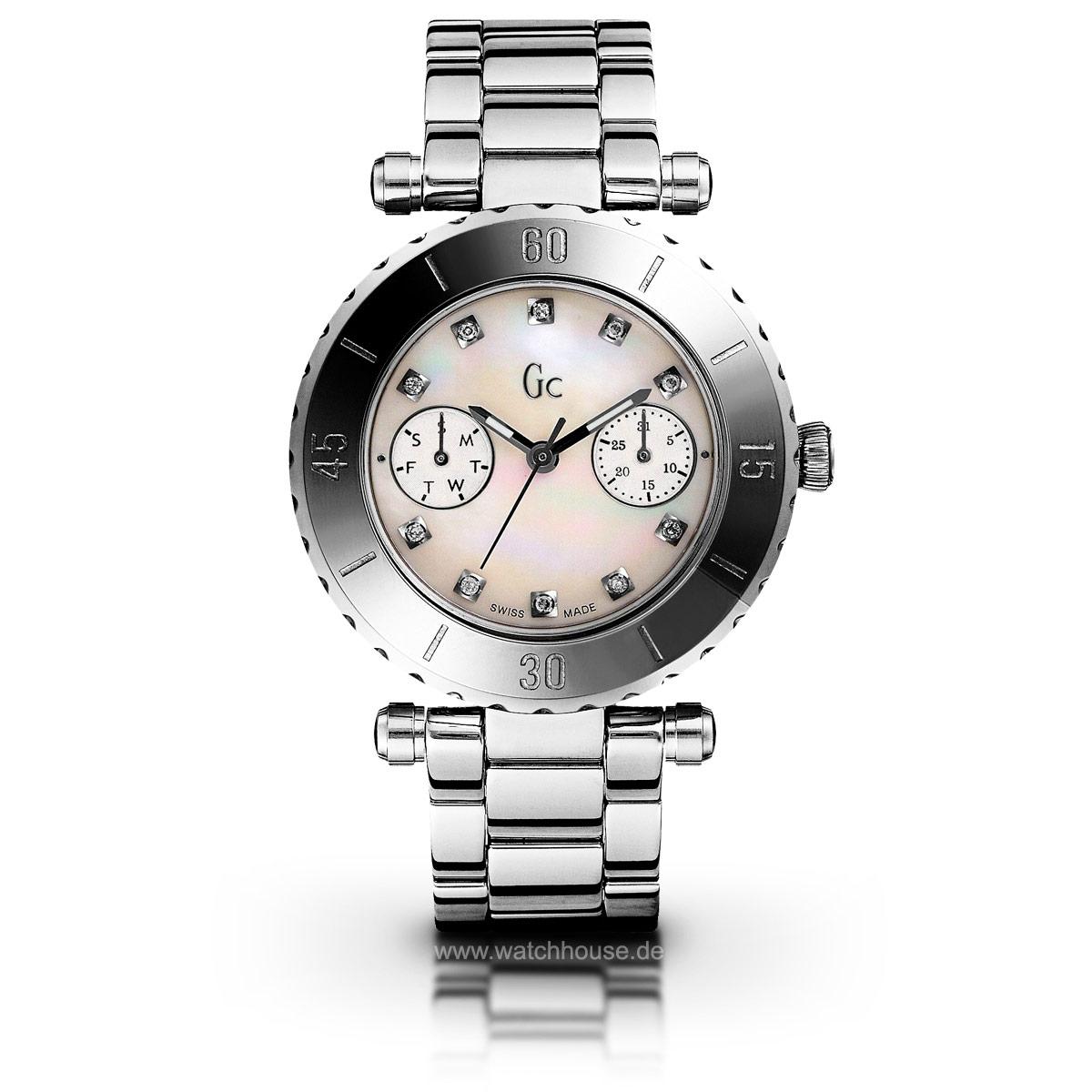 Gc Diver Chic Precious I30500L1 Damenuhr mit 10 Diamanten