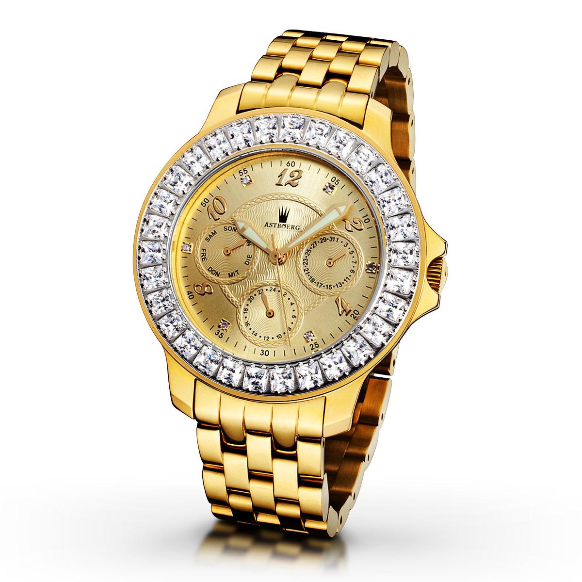 Astboerg Royal Diamond AT1021GGMB Damenuhr mit Diamanten