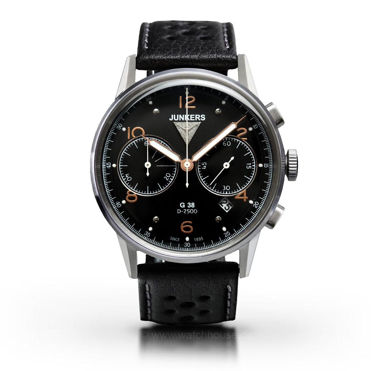 Junkers G38 Quarz Chronograph 6984-5 Herrenuhr
