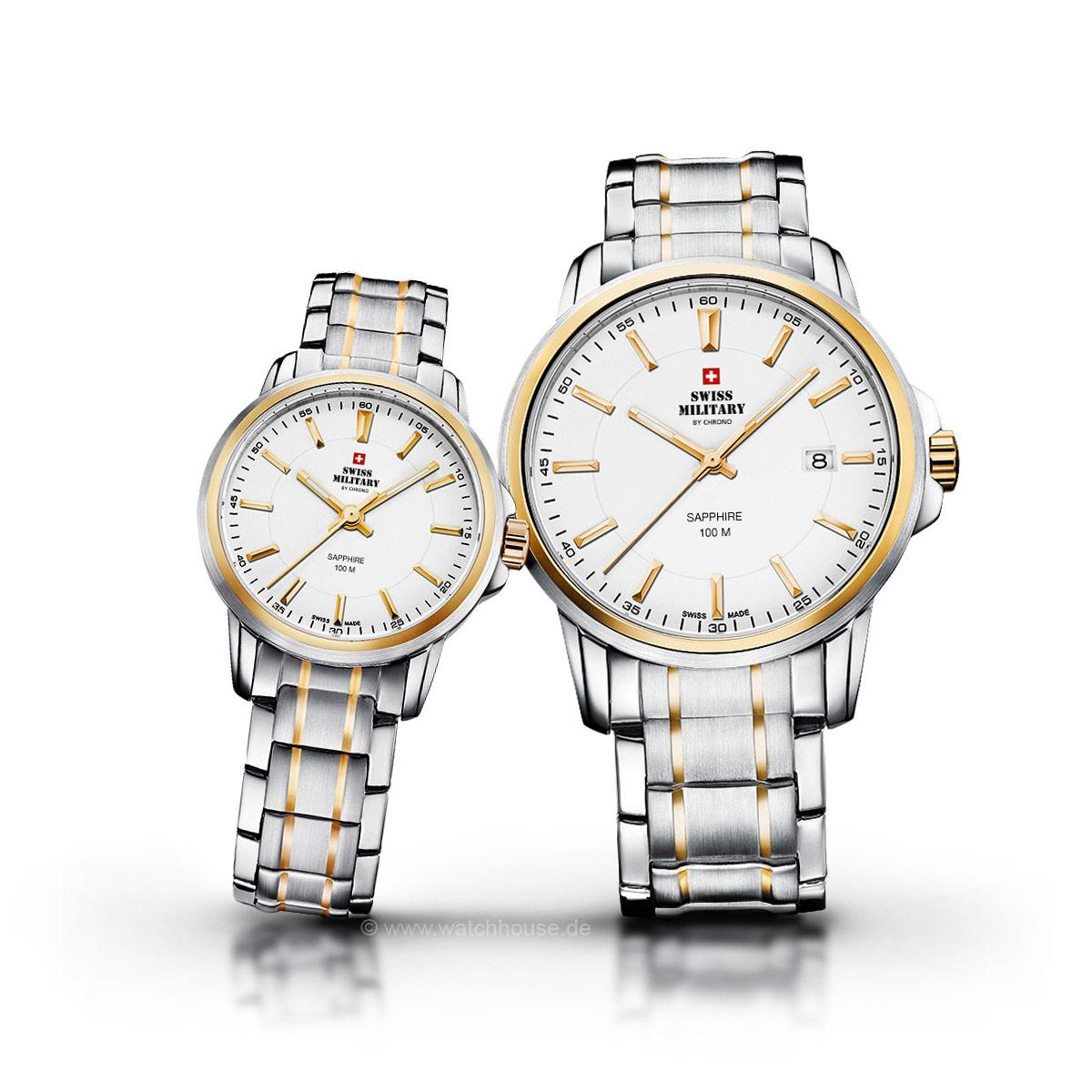 Swiss Military Uhren Partner Set SM34039.05-04 für Sie und Ihn