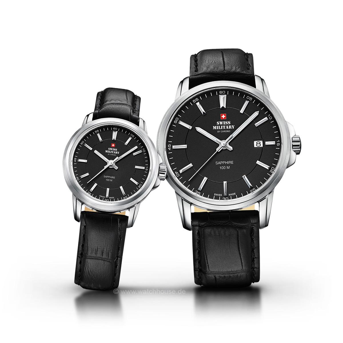 Swiss Military Uhren Partner Set SM34039.06-40.05 für Sie und Ihn