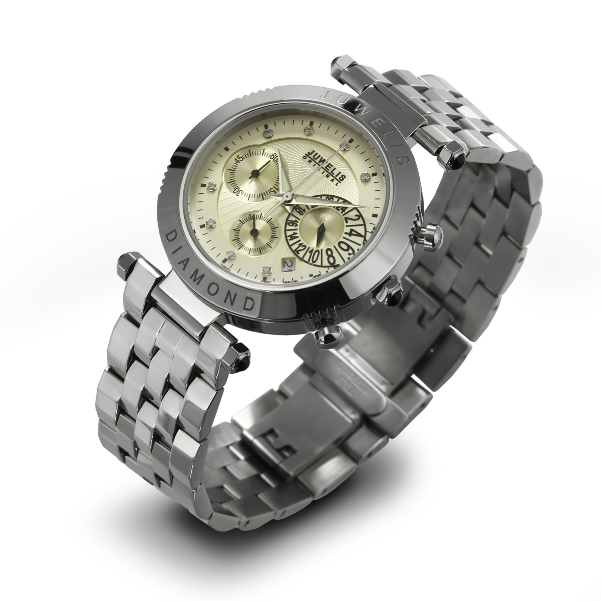 Juwelis Helios Diamond Herrenuhr JW0601SCBRC Chronograph Diamanten