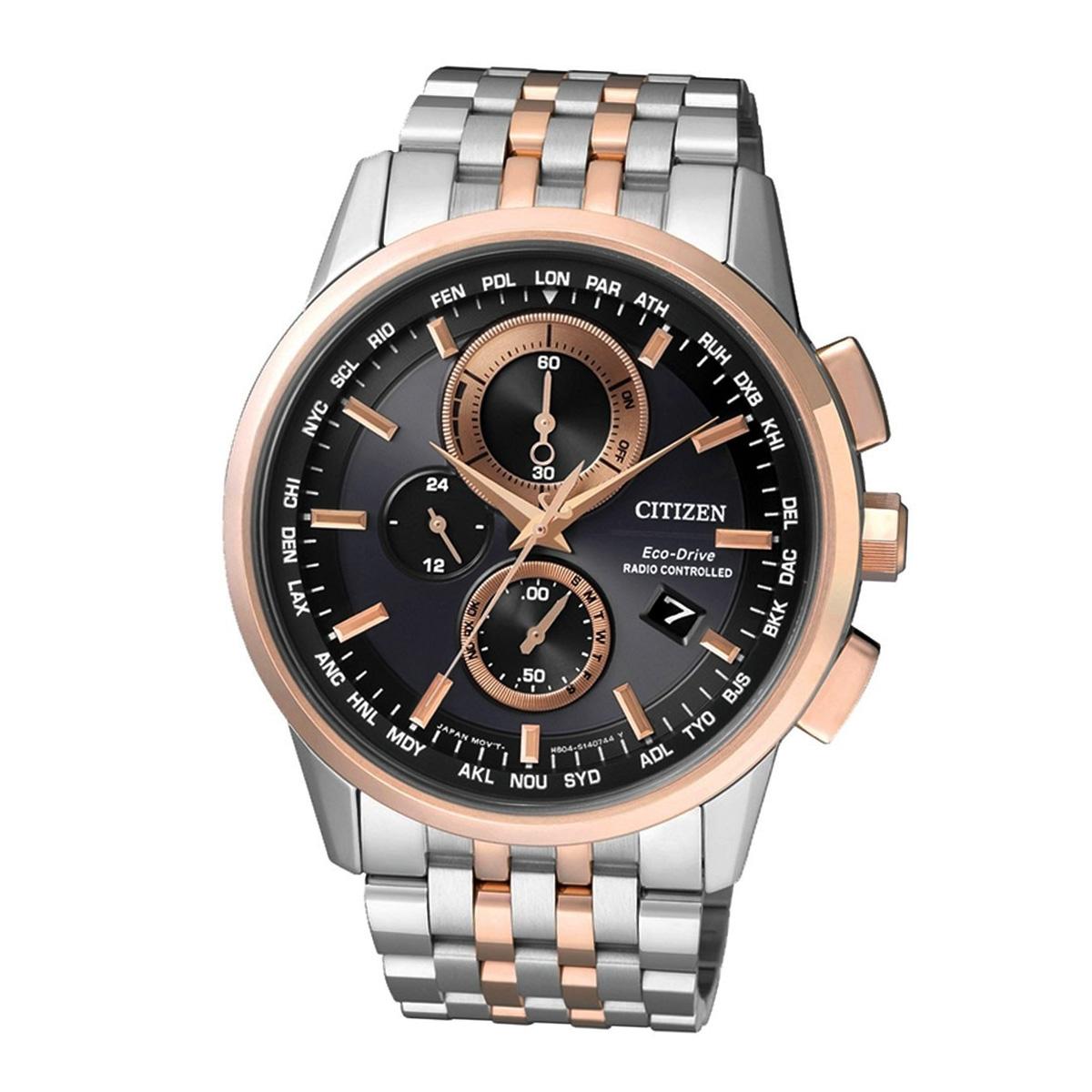 Citizen Elegant AT8116-65E Herren Funk Armbanduhr Chronograph