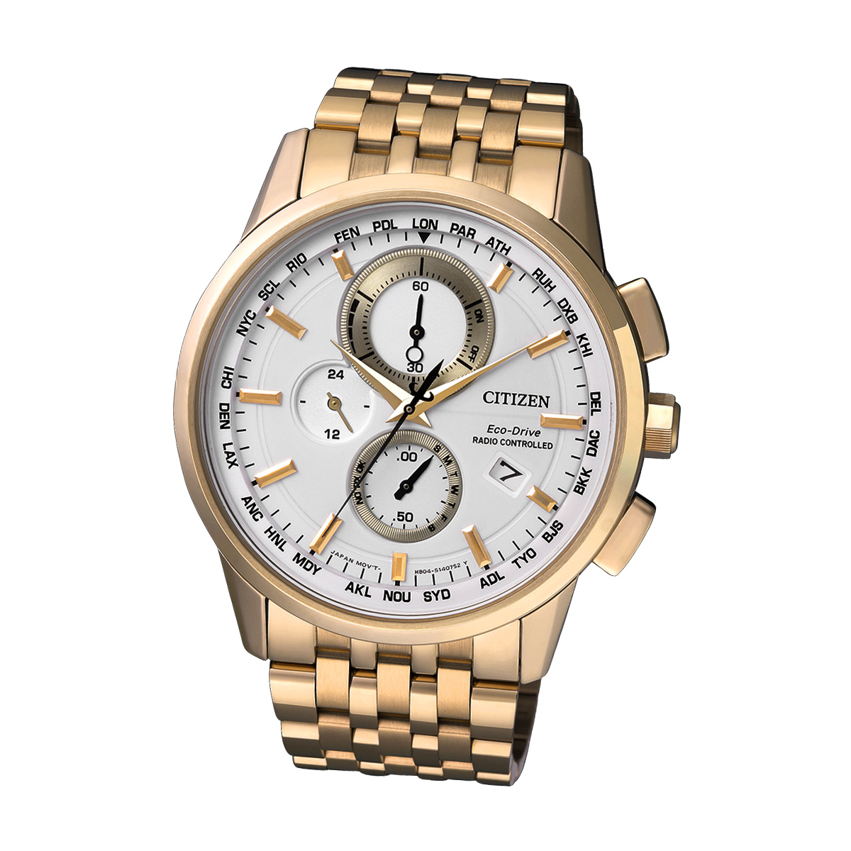 Citizen Elegant AT8113-55A Herren Funk Armbanduhr Chronograph