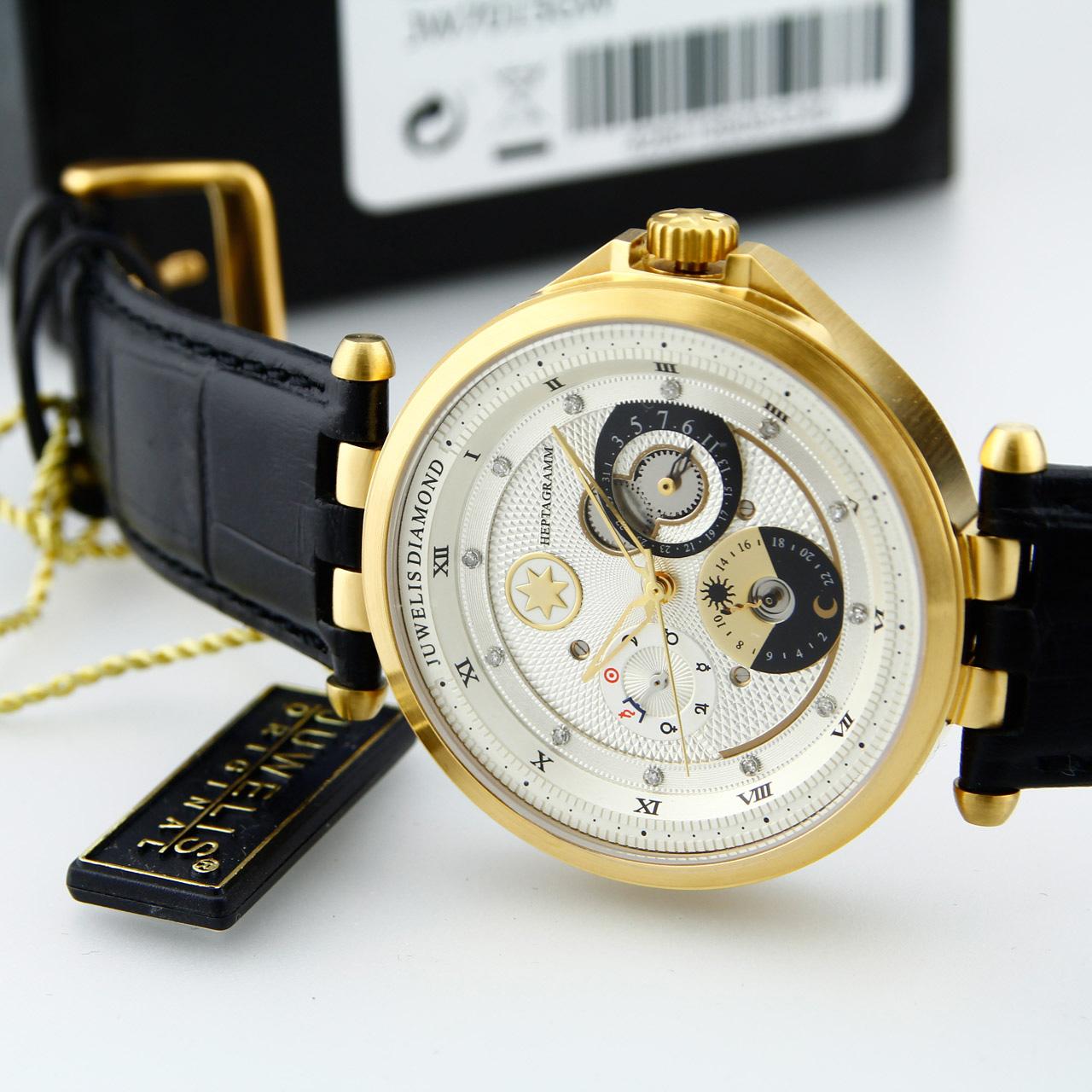 Juwelis Heptagramm JW7015GW Armbanduhr für Sie und Ihn