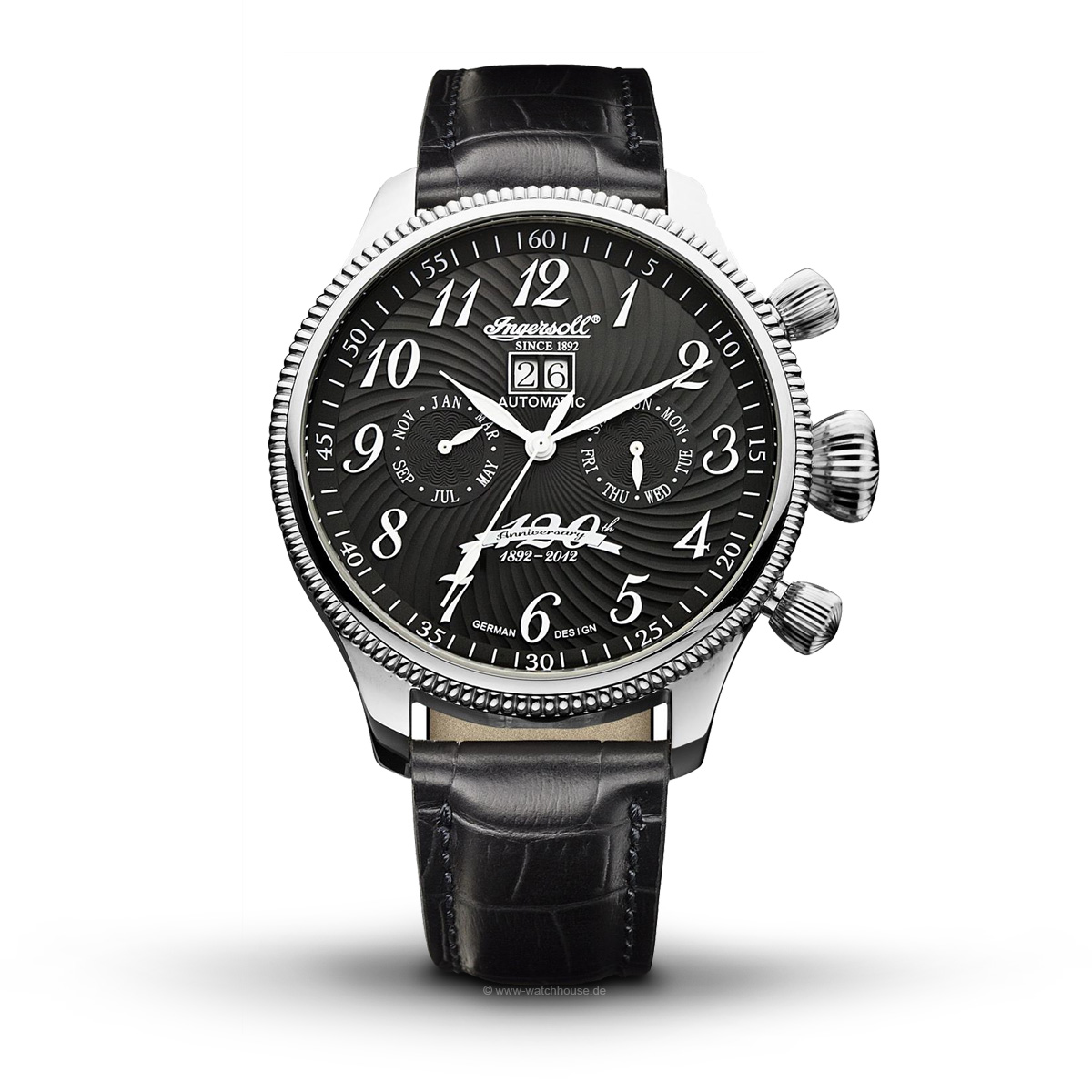 Ingersoll Independance IN3106BK Herren Armbanduhr Automatik mit Kalende