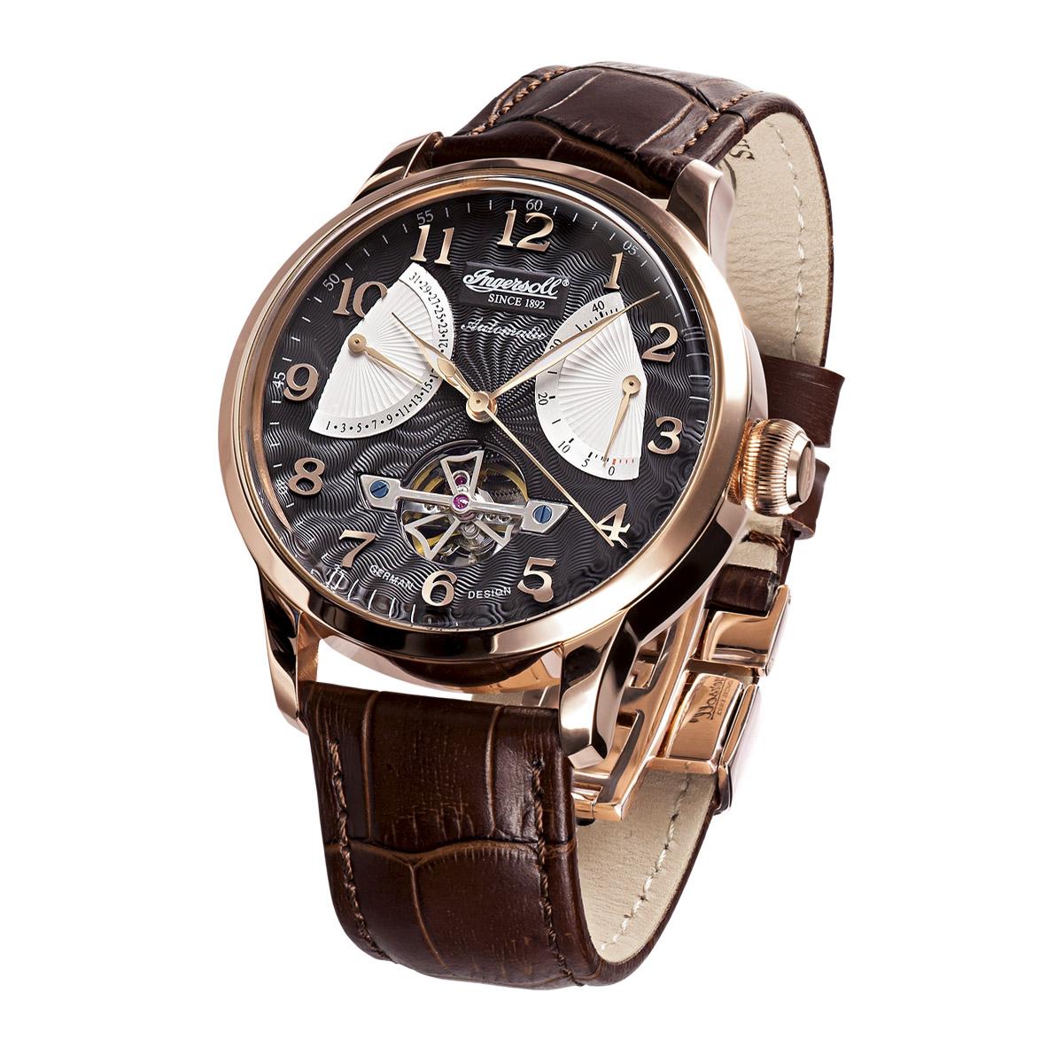 Ingersoll Classic Stetson II IN6910RBK Massa Herren Armbanduhr Automatikuhr