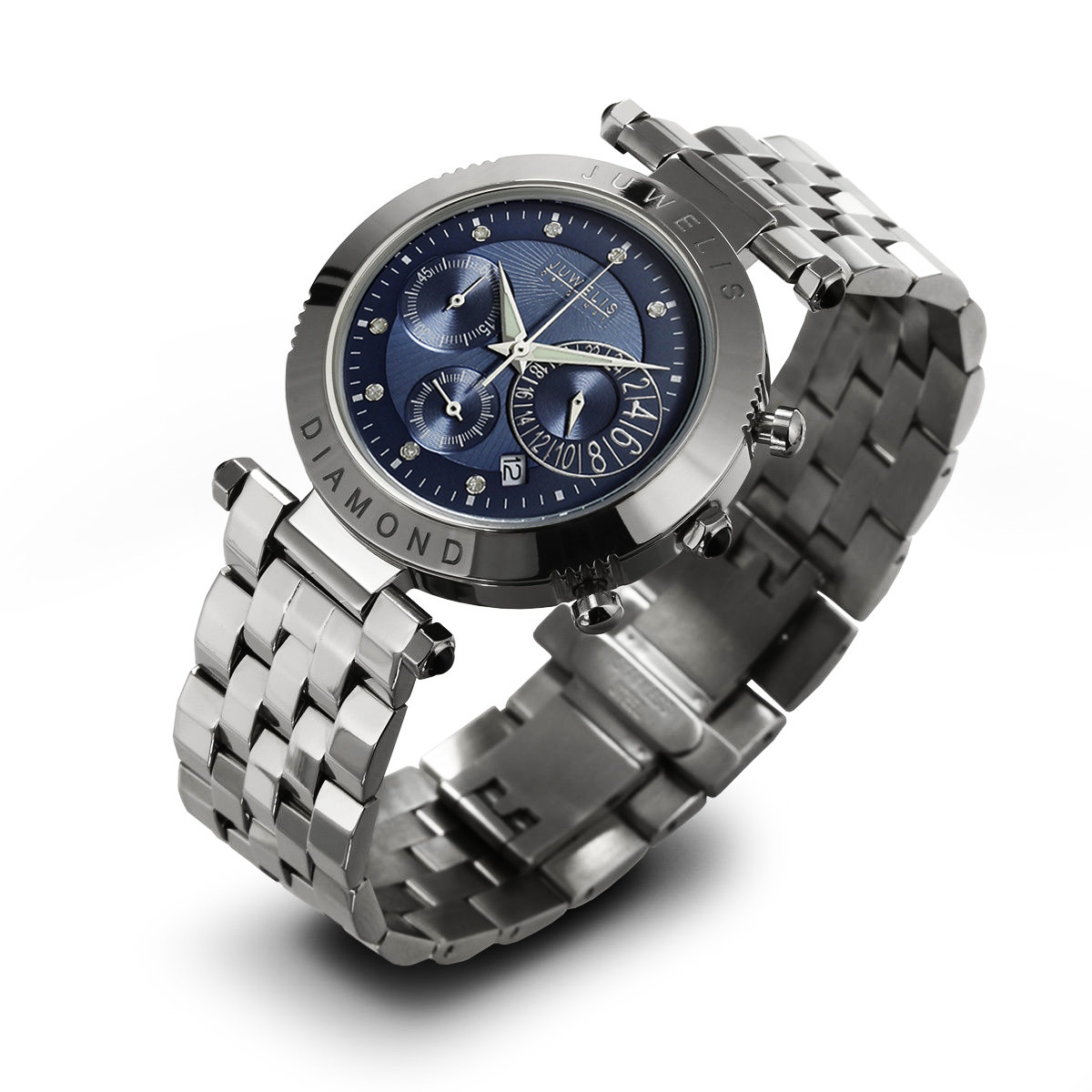 Juwelis Helios Diamond Herrenuhr JW0601SBBRC Chronograph Diamanten