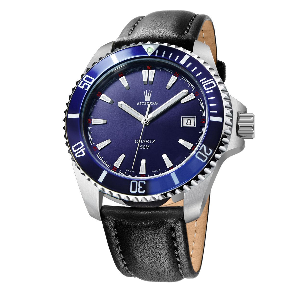 Astboerg Ocean Swiss Made Herrenuhr AT2703LB