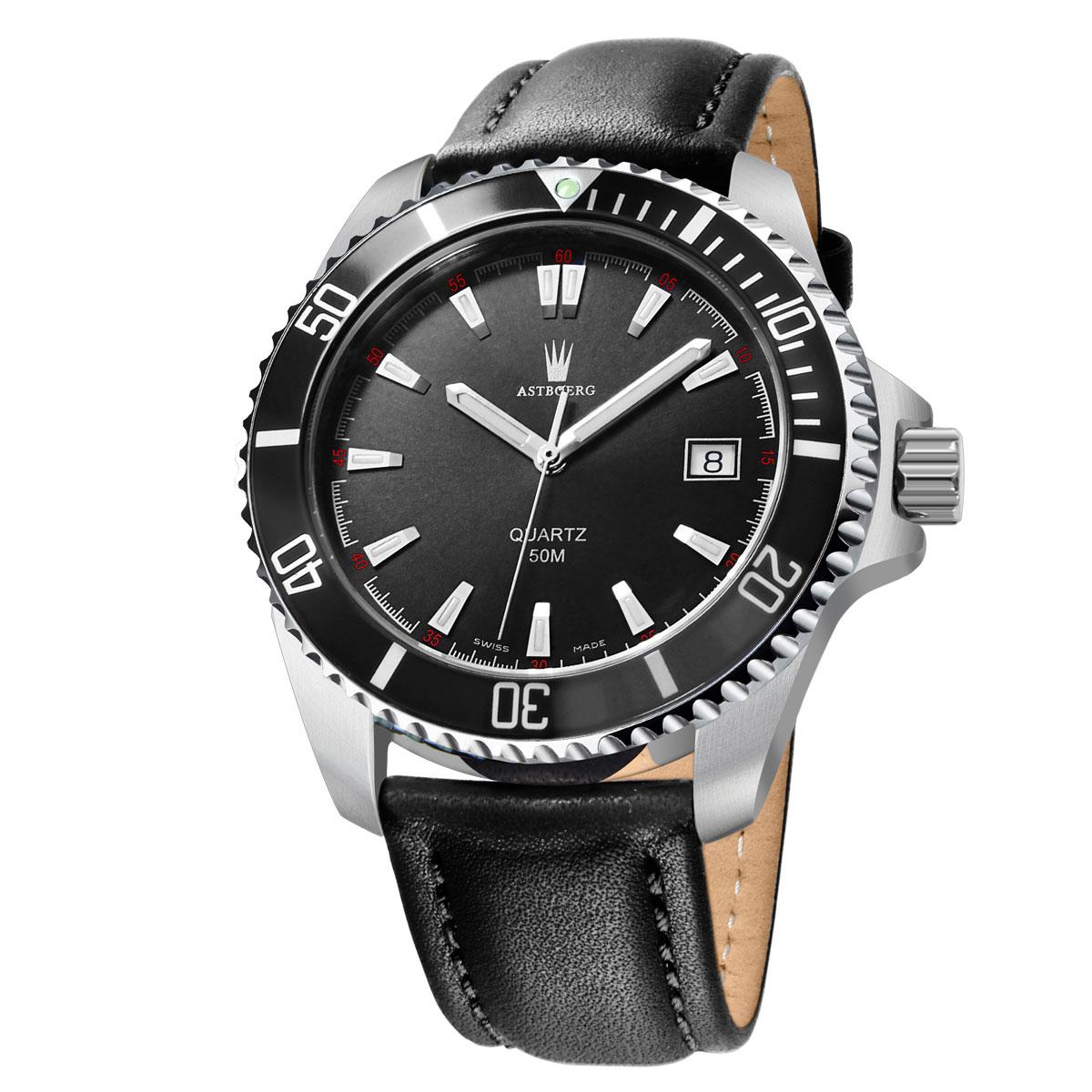 Astboerg Ocean Swiss Made AT2703LS Herrenuhr