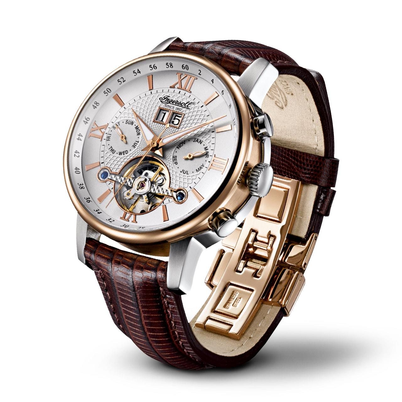 Ingersoll Classic Grand Canyon IV IN6900RWH Herren Armbanduhr Automatik
