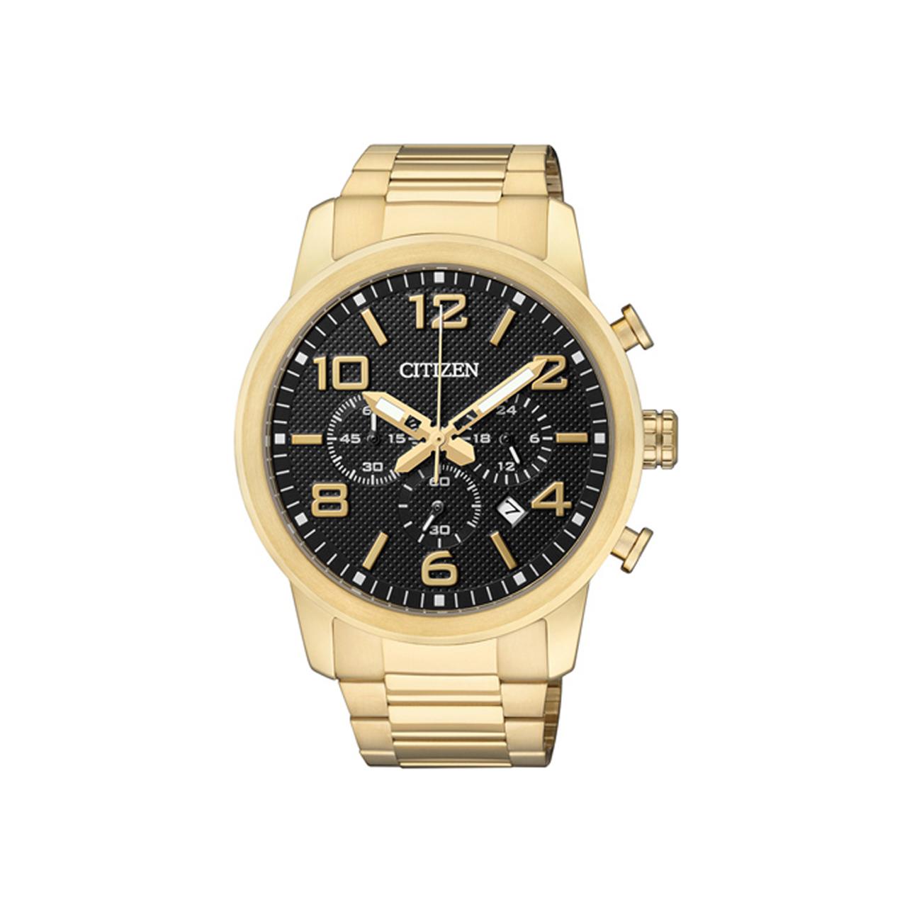 Citizen Basic - vergoldeter Chrono AN8052-55E Gold-Schwarz