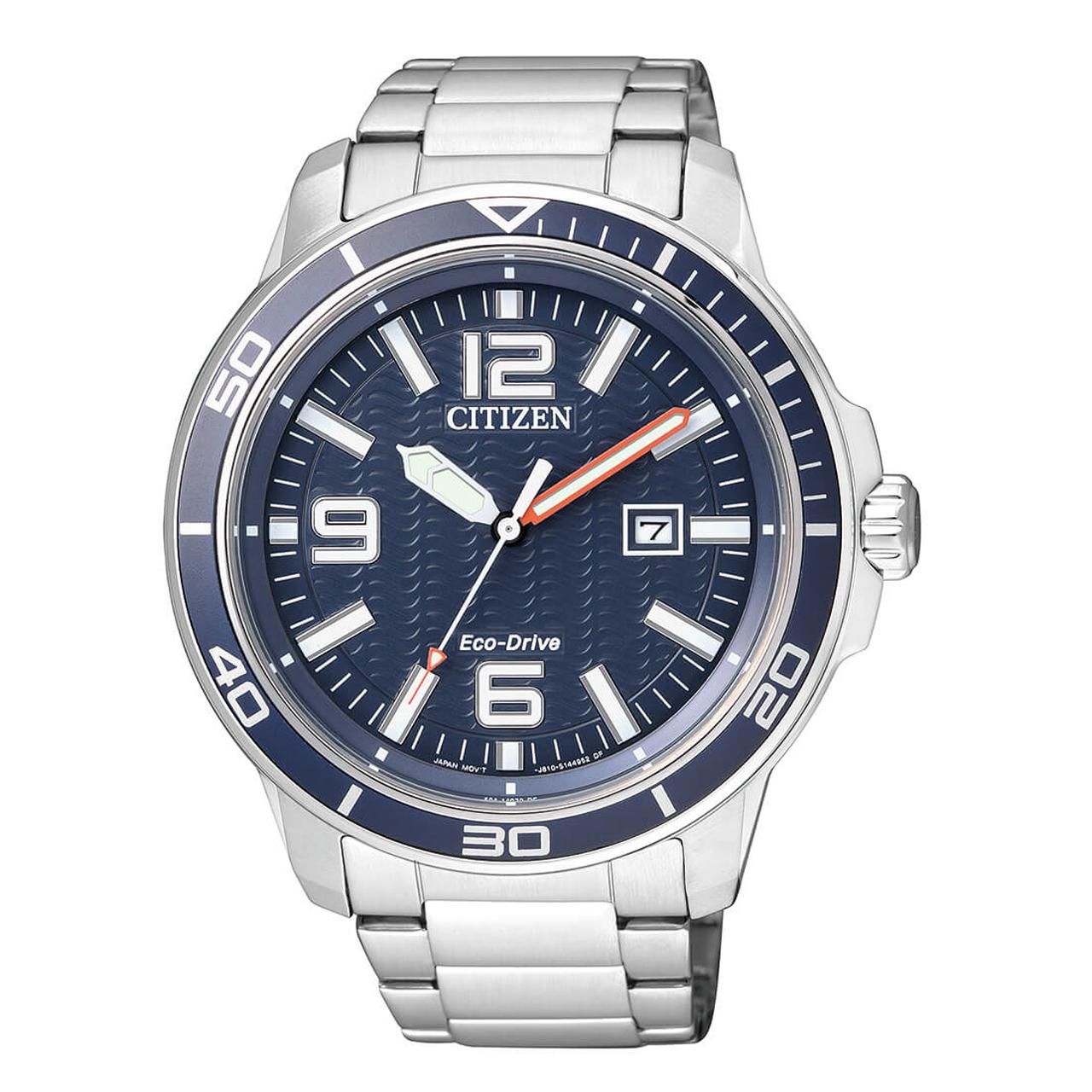 Citizen Sports blaue Herren Eco Drive Uhr AW1520-51L