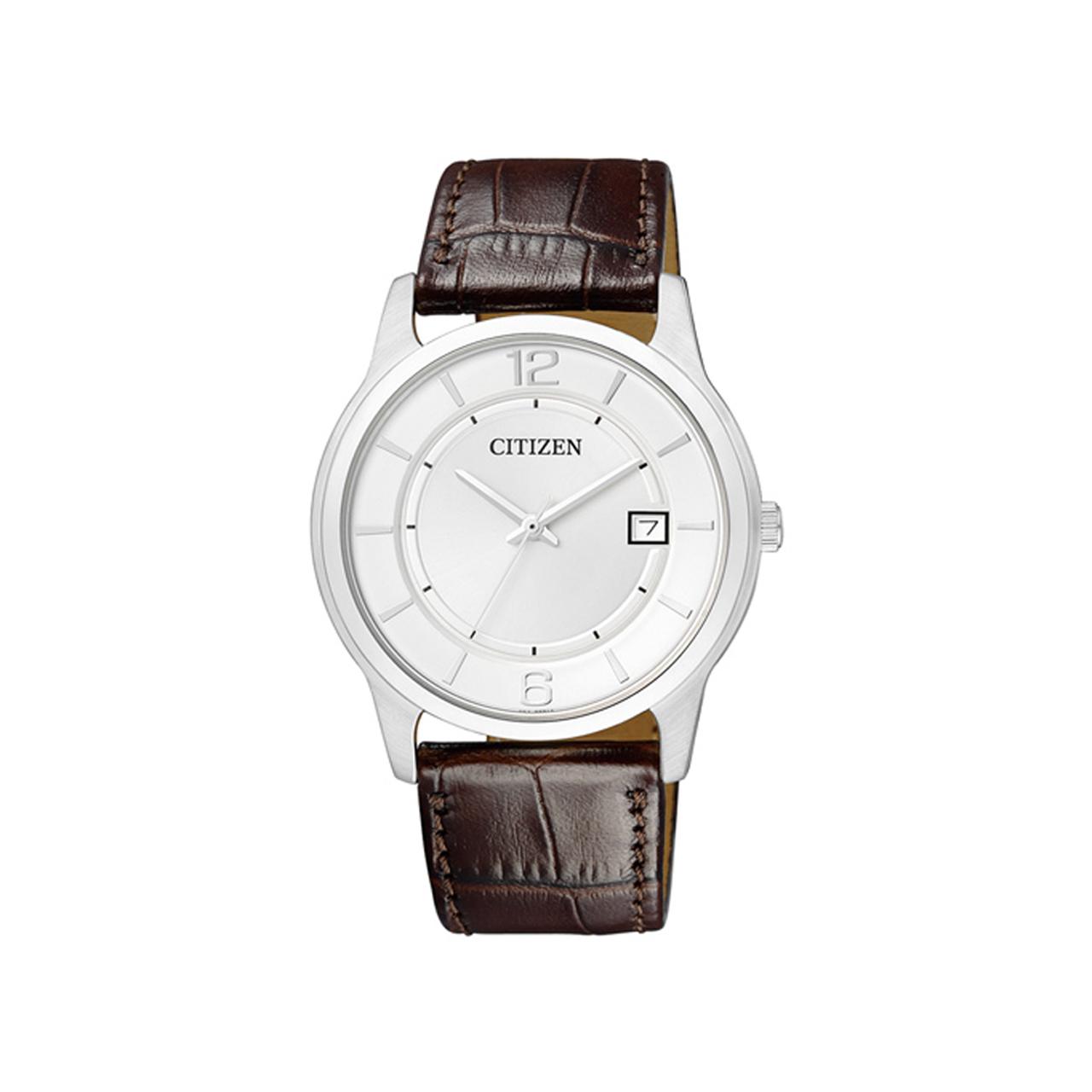 Citizen Basic Herren Armbanduhr in silber BD0021-19A