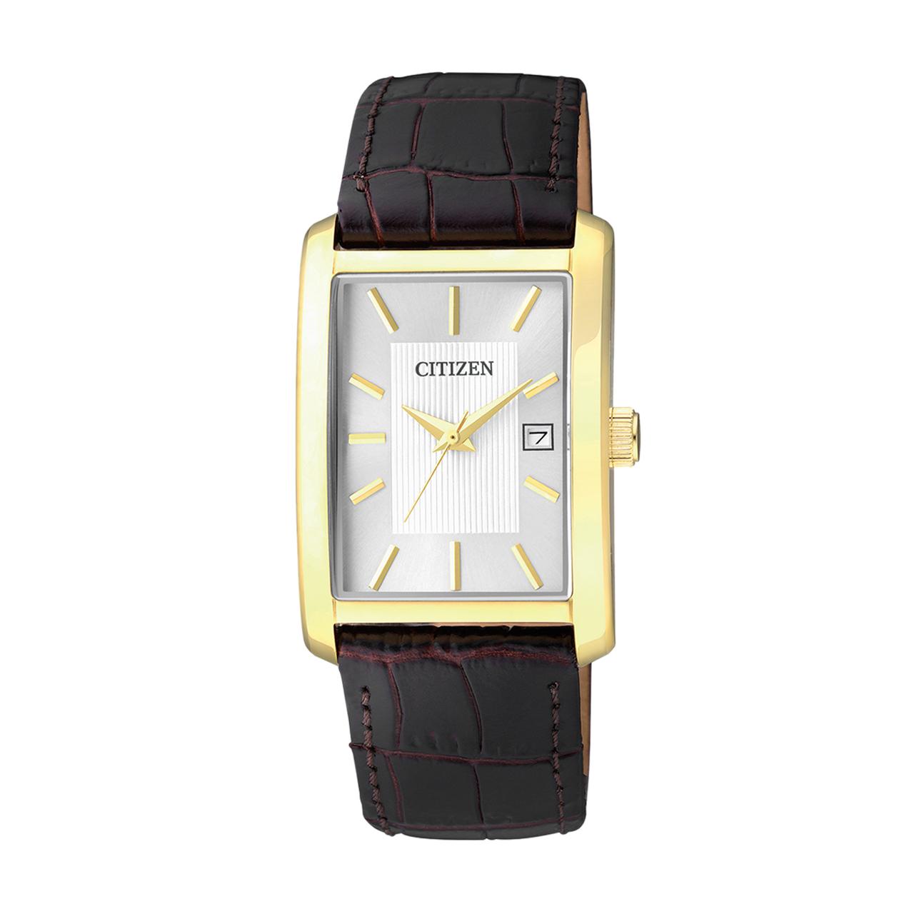 Citizen Basic Herren goldplattierte Armbanduhr BH1673-09A