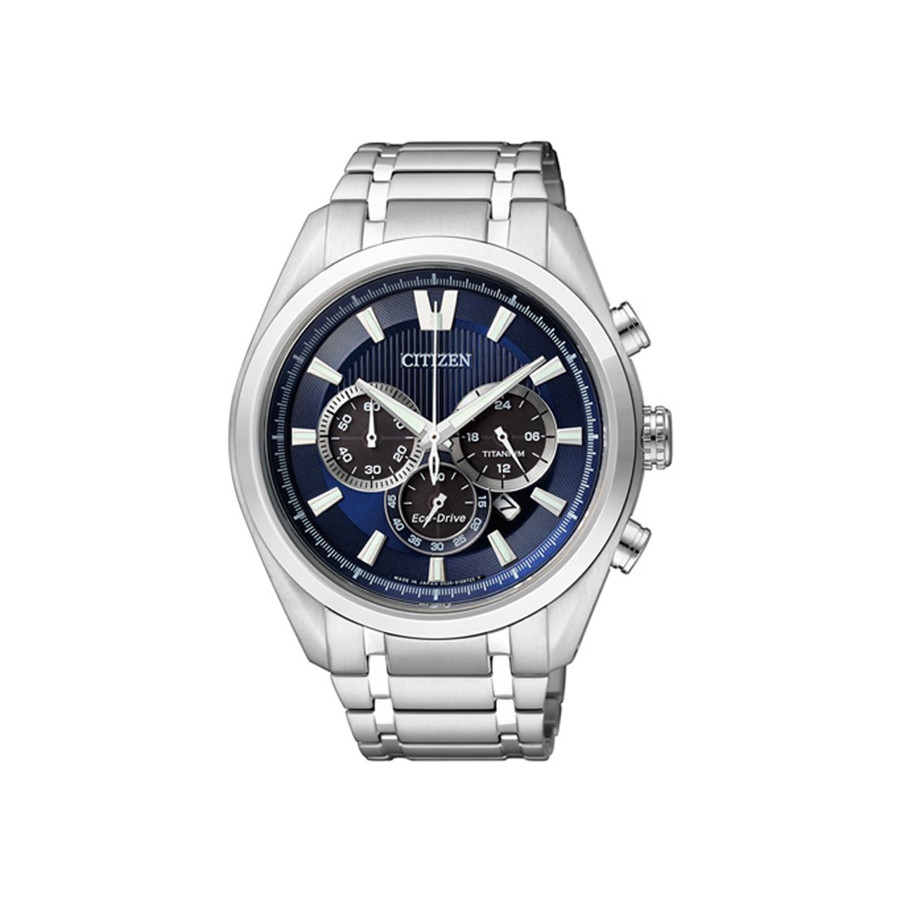 Citizen CA4010-58L Super Titanium Deep Blue Chrono Armbanduhr
