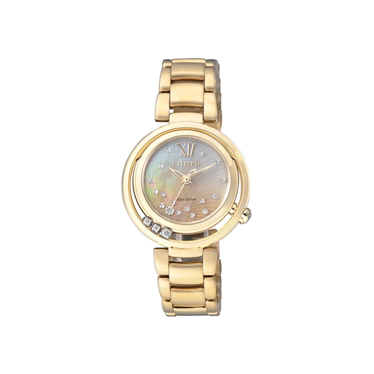 Citizen Elegant Damen Armbanduhr EM0325-55P mit Diamanten