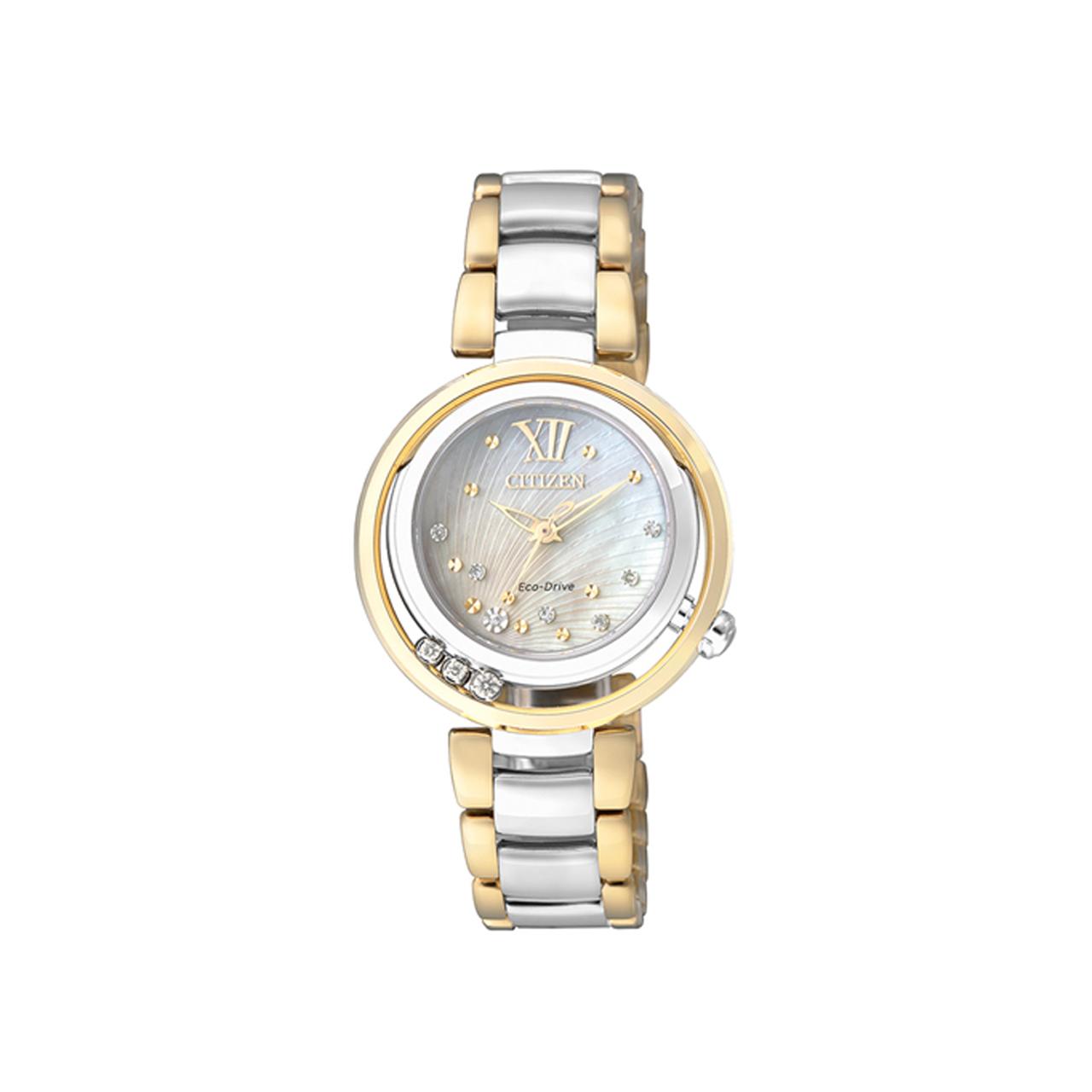 Citizen Elegant Damen Armbanduhr EM0326-52D mit Diamanten