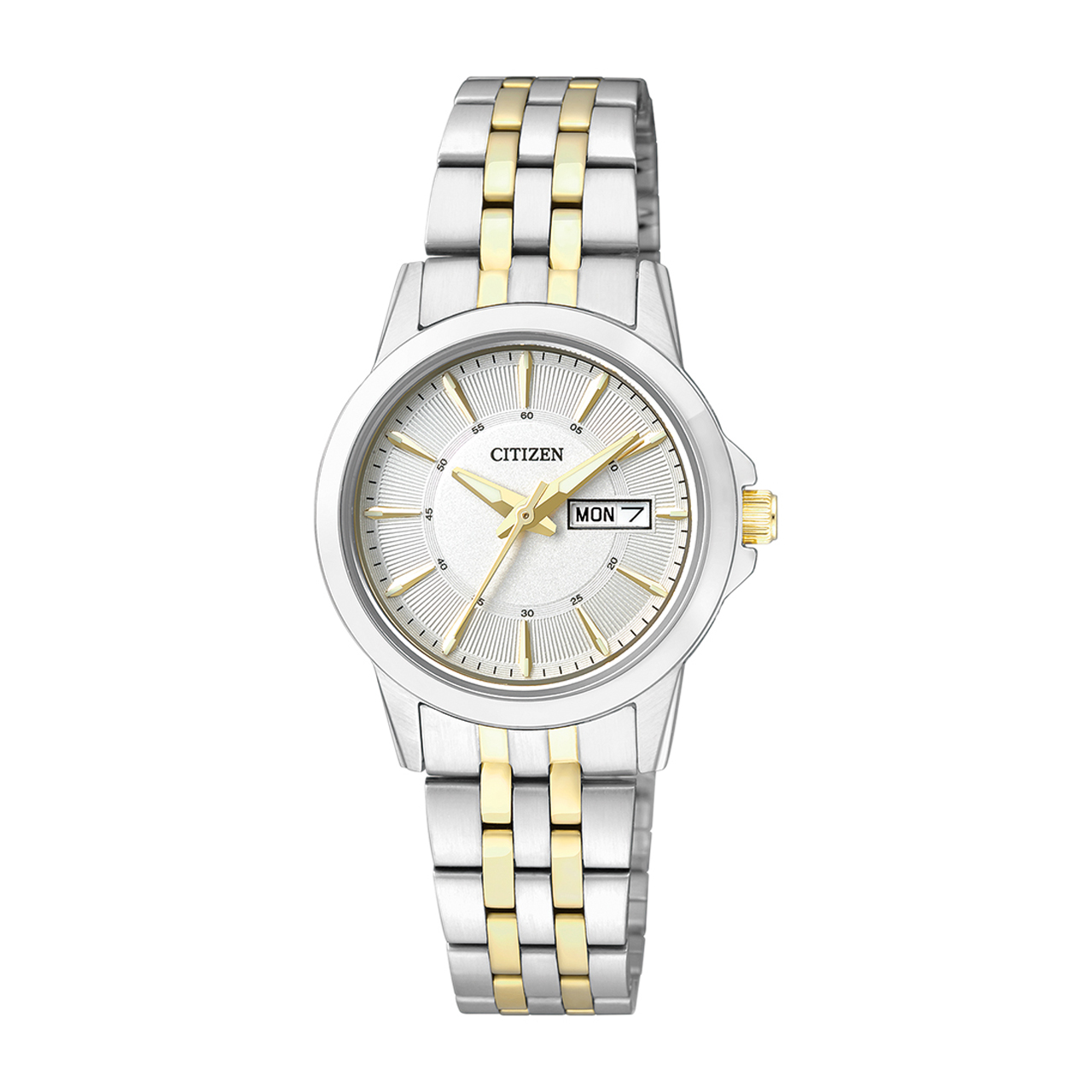 Citizen Basic Damen Armbanduhr EQ0608-55AE Bicolor