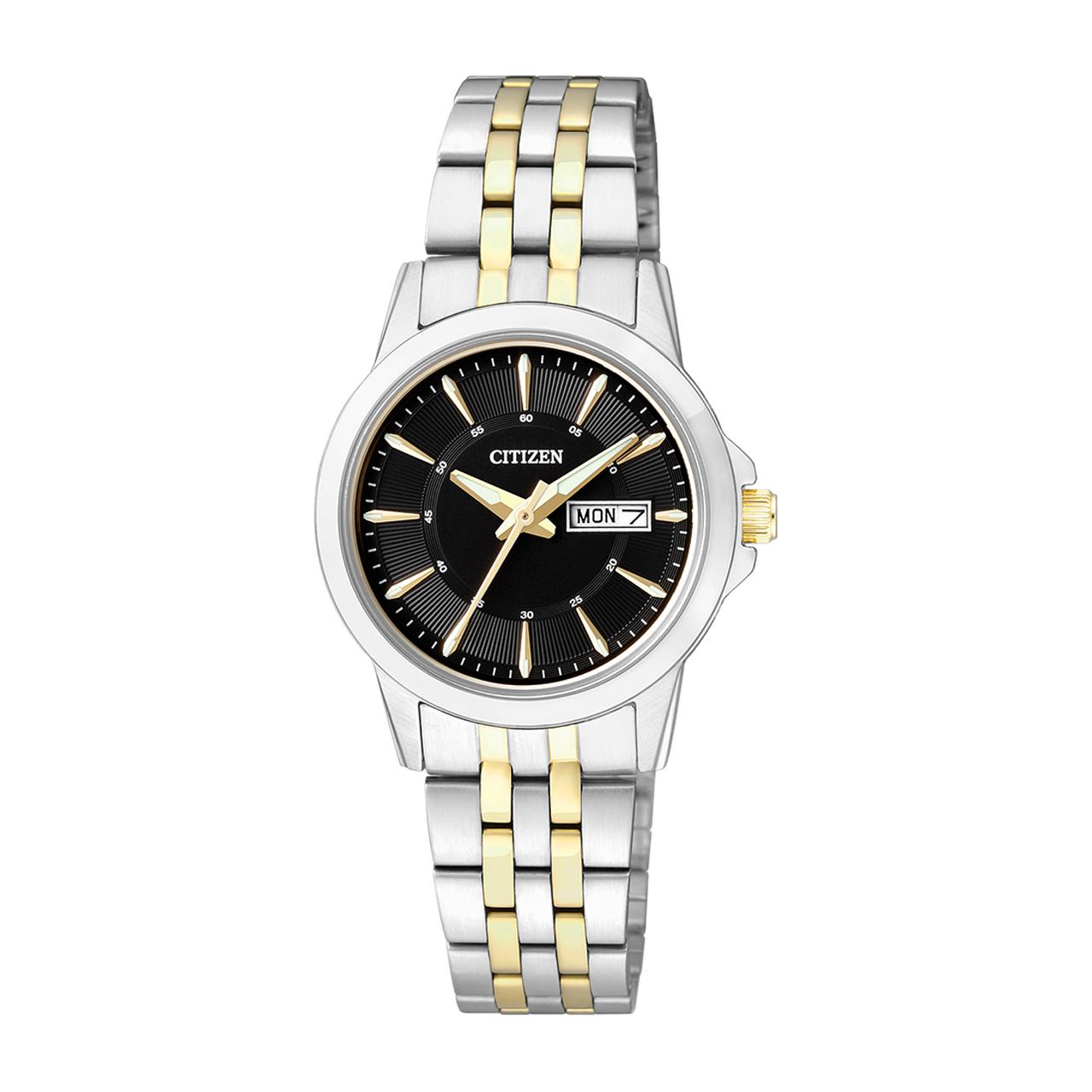 Citizen Basic Damen Armbanduhr EQ0608-55EE Bicolor