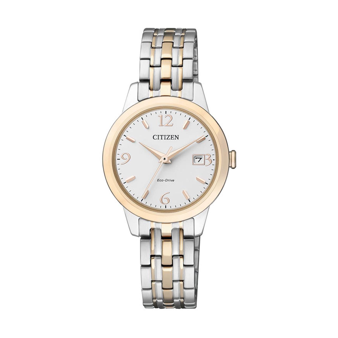 Citizen Elegant Damen Bicolor Uhr EW2234-55A