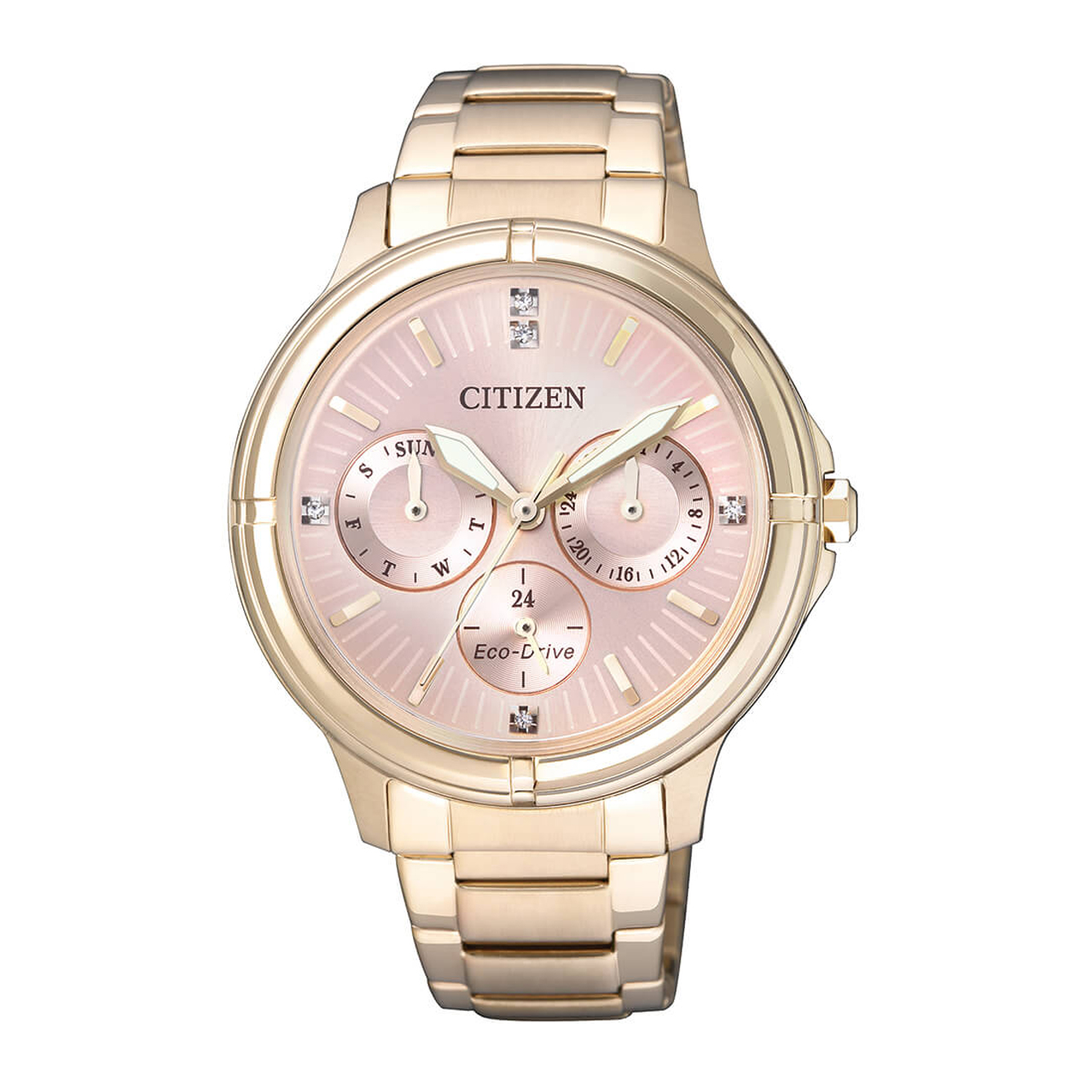 Citizen Elegant vergoldete Damenuhr FD2033-52W