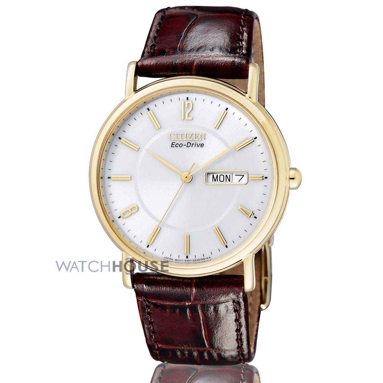 Citizen Elegant goldplattierte Herrenuhr  BM8243-05AE