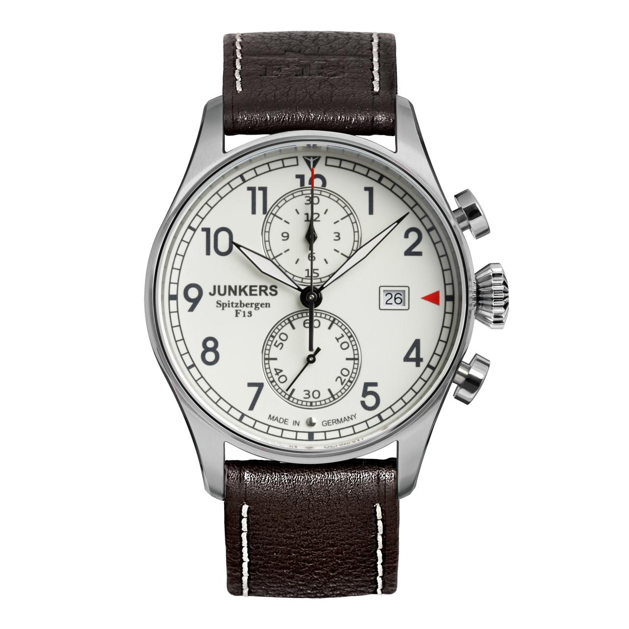 Junkers Spitzbergen F13 6178-5 Titan Herren Armbanduhr Chronograph