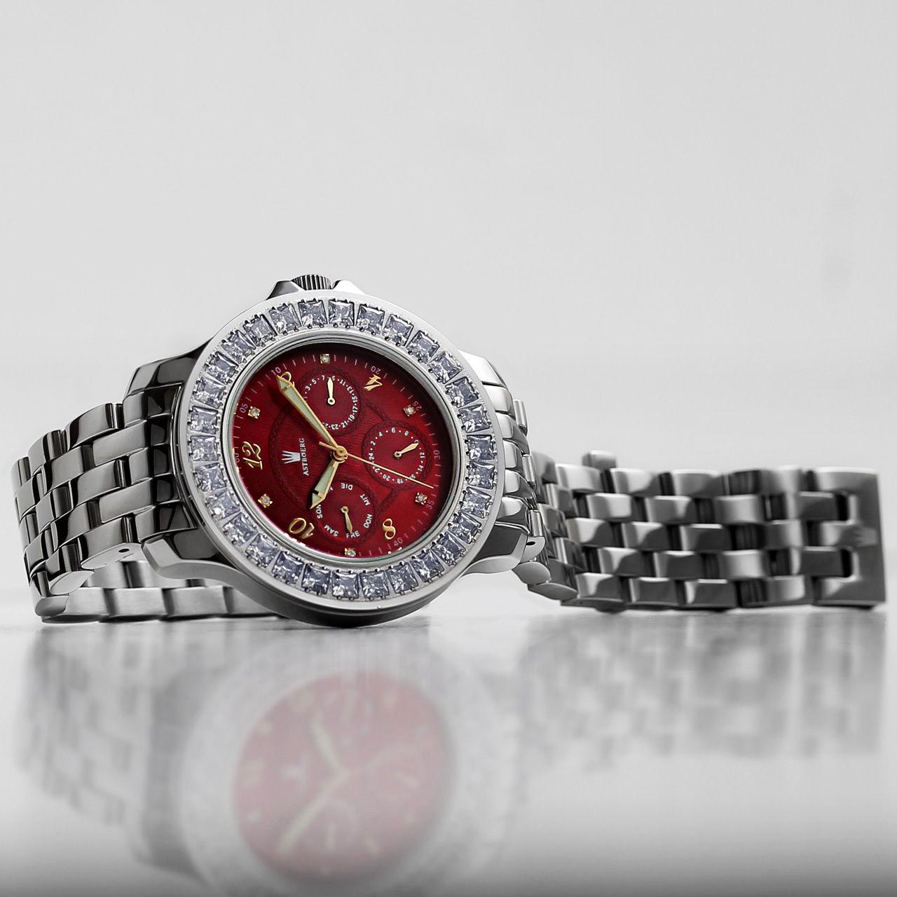 Astboerg Royal Diamond AT1021SRGMB Damen Armbanduhr mit Diamanten