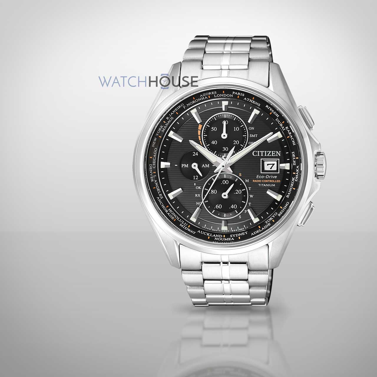 Citizen Elegant Eco Drive Funk Titan Herrenuhr AT8130-56E Saphirglas