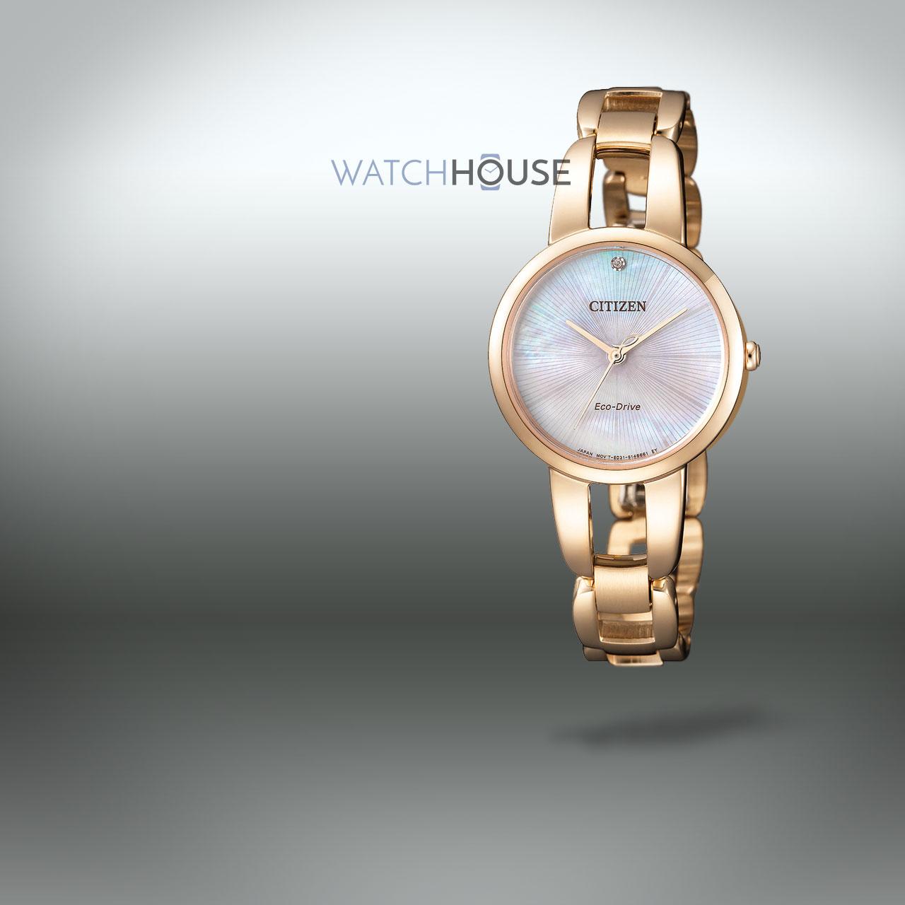 Citizen Elegant EM0433-87D Damen Schmuckbanduhr mit Diamant