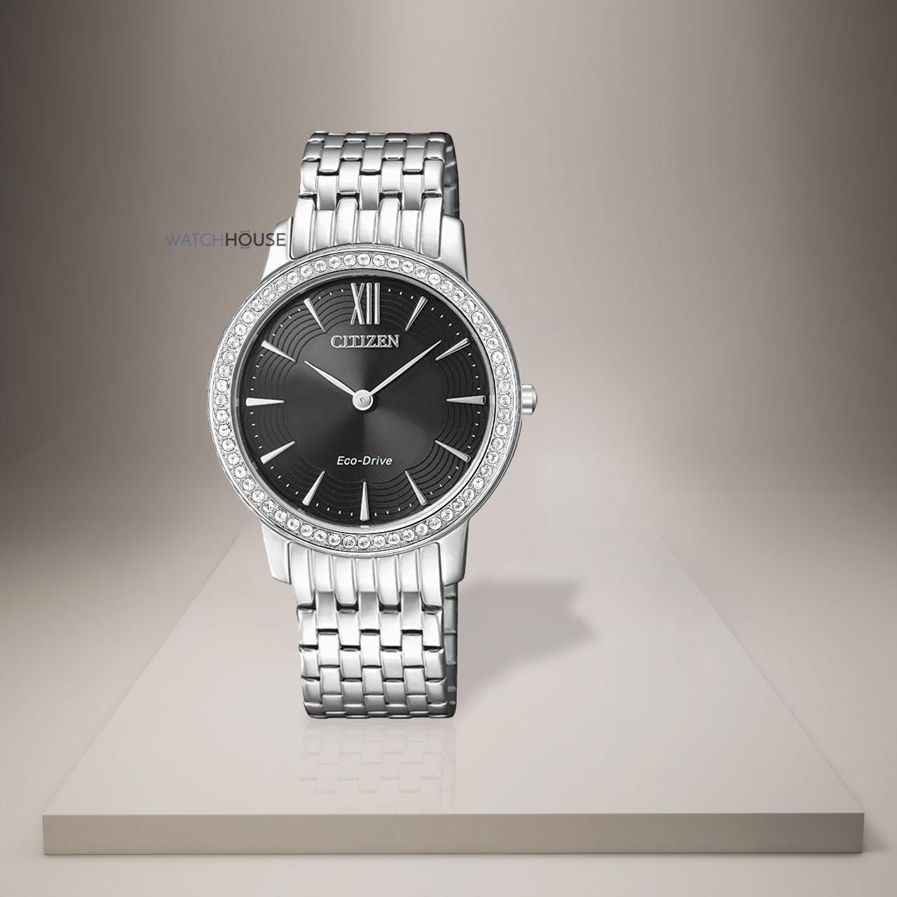 Citizen Elegant Damenuhr mit Swarovski Kristallen EX1480-82E