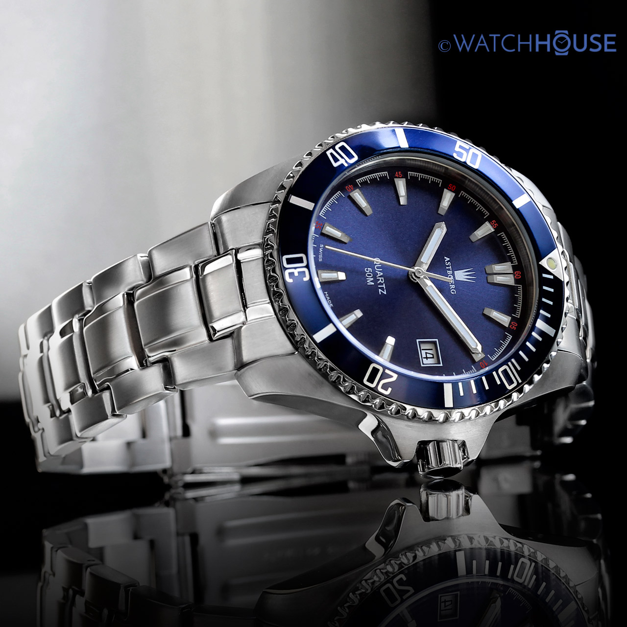 Astboerg Ocean AT2703MB Swiss Made Herren Armbanduhr