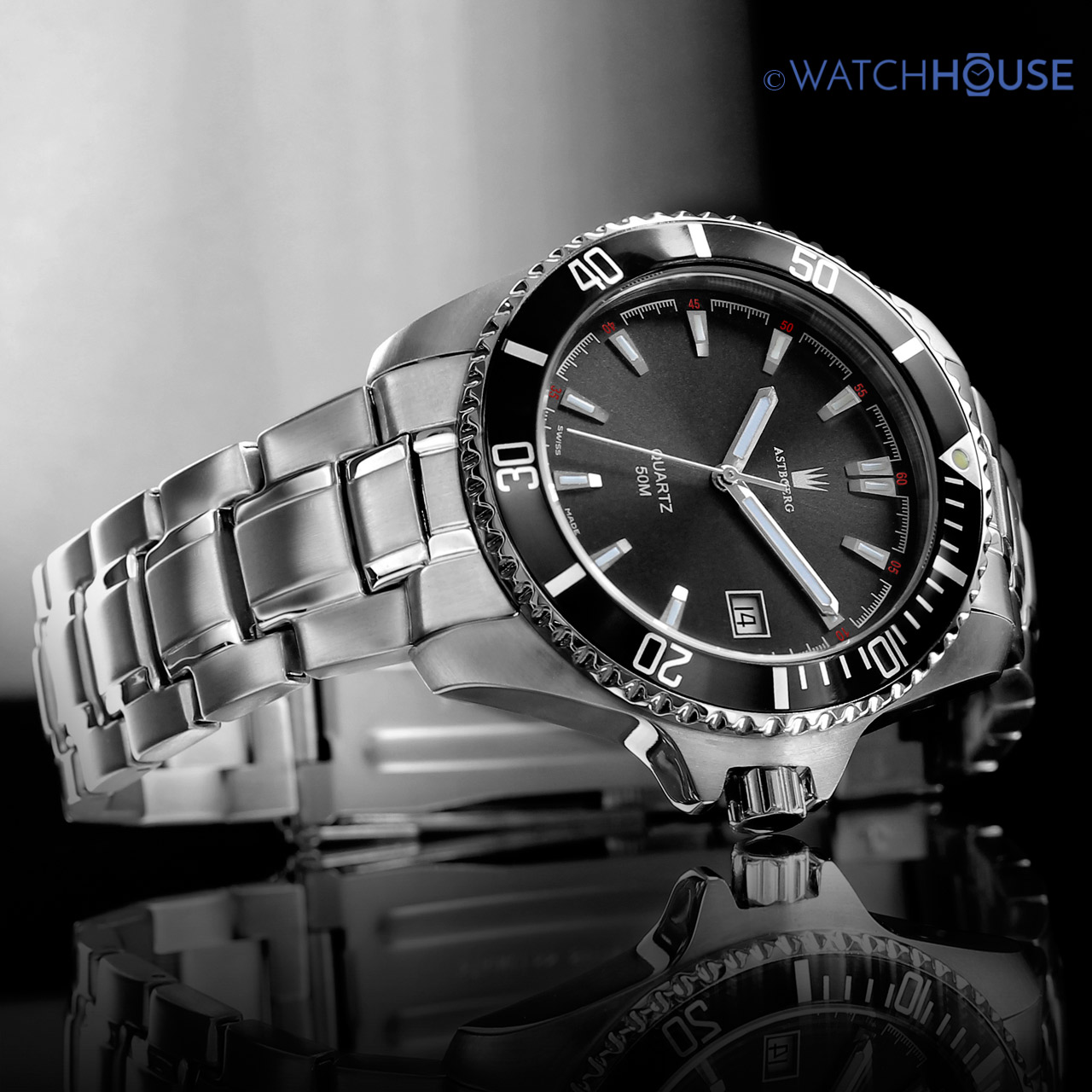 Astboerg Ocean AT2703MS Swiss Made Herren Armbanduhr