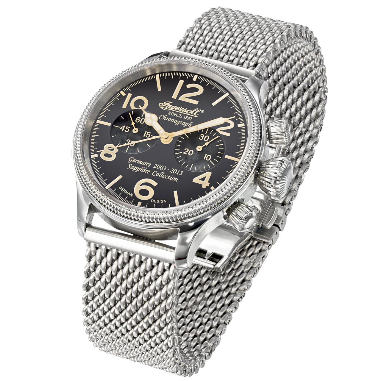 Ingersoll Wells Fargo III IN4610BKMB Herren Armbanduhr Handaufzug Chronograph