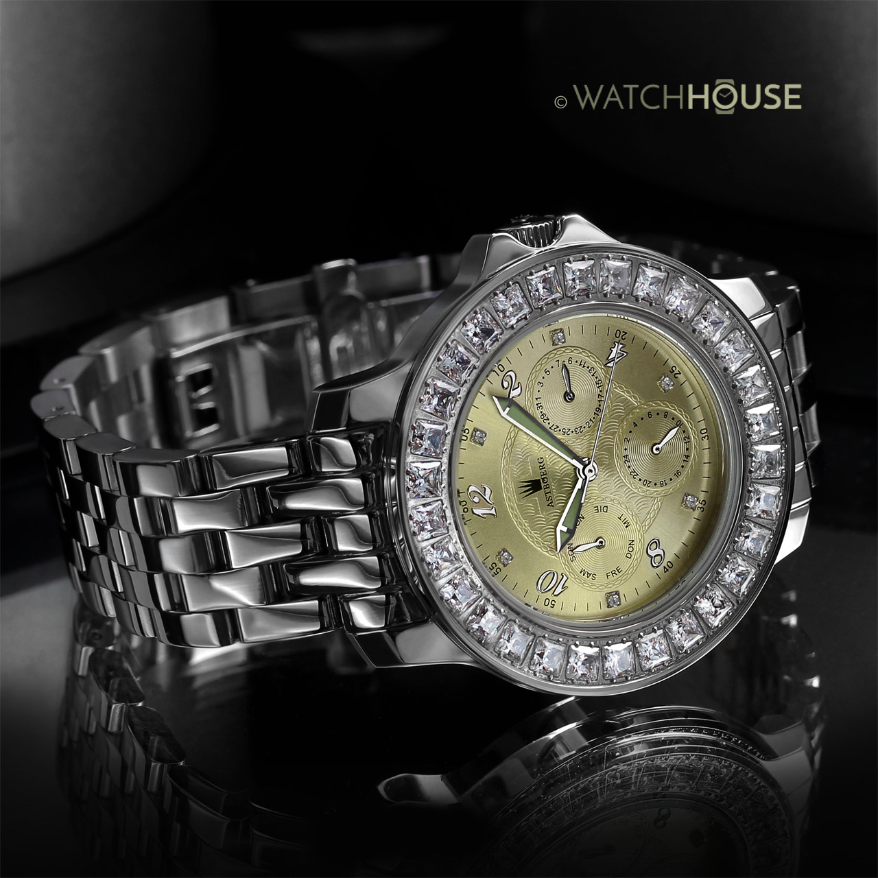 Astboerg Royal Diamond AT1021SCMB Damenuhr mit Diamanten