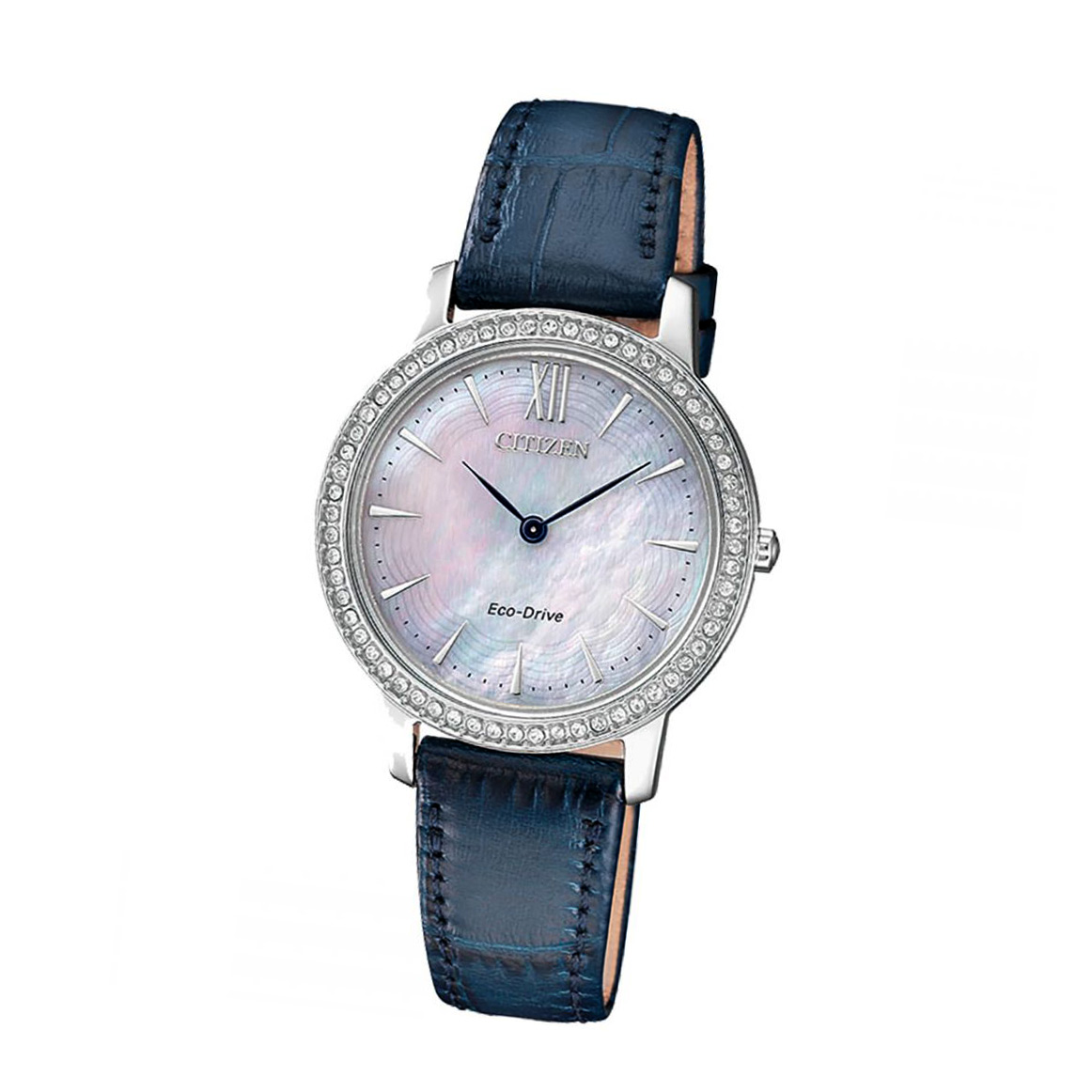 Citizen Elegant EX1480-15D Damen Armbanduhr Eco Drive/Solar Perlmutt